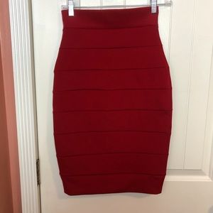 Windsor | Striped Pencil Body Con Skirt